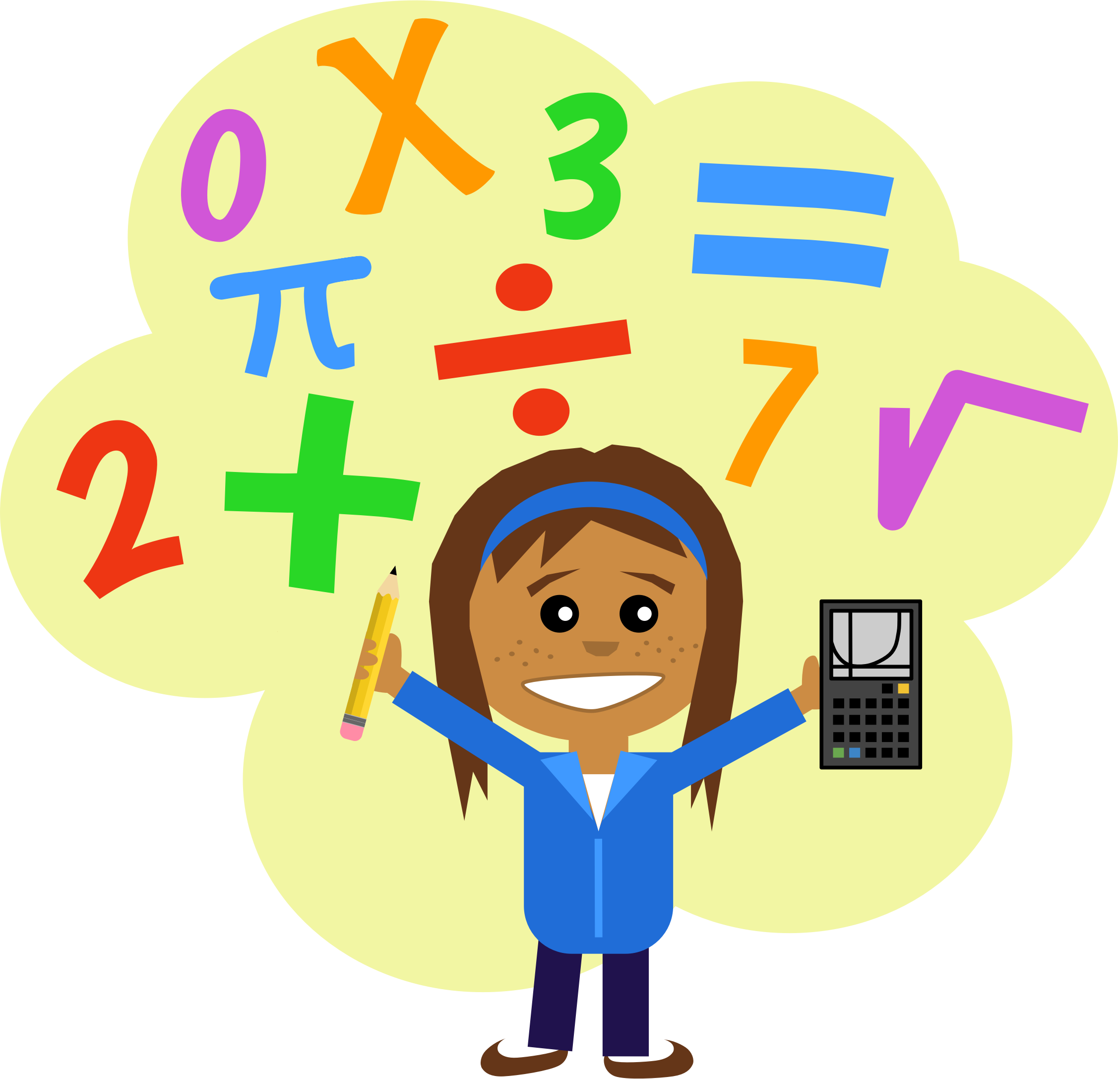 Notebook clipart math subject Clipart math clipart clipart math