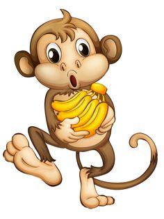 Number clipart animated Peacock MonkeyCartoon white · Emoji