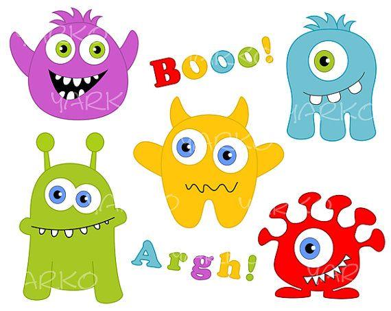 Marshmellow clipart monster Images ArtPartyMoldsDrawings ArtClip MonstersMonster Pinterest