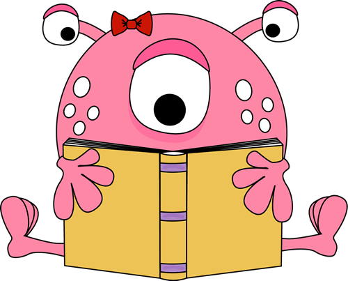 Covered clipart book cartoon Readers Clipart Readers Monster cliparts