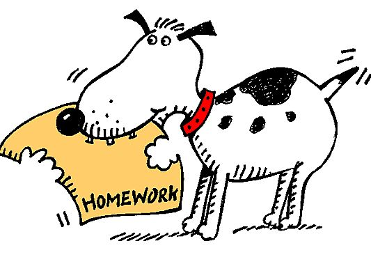 Homework clipart not Answered  for beginning is
