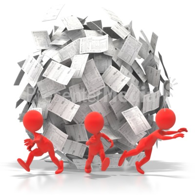 Paper clipart paperwork Great Ball for Paperwork PowerPoint