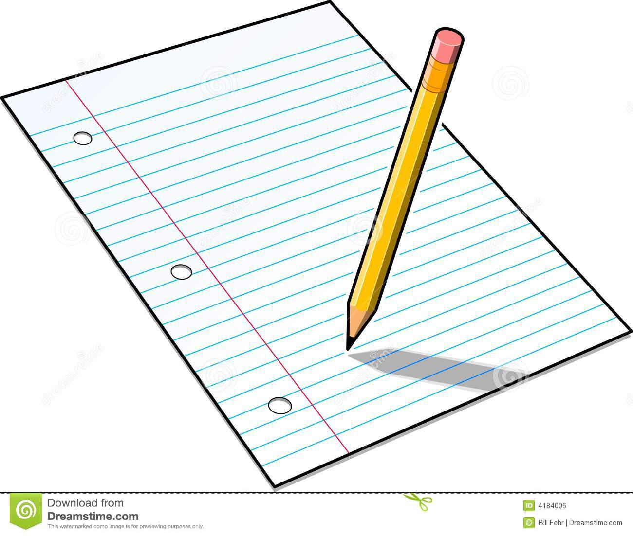 Notebook clipart homework paper Pencil homework Clip collection Paper
