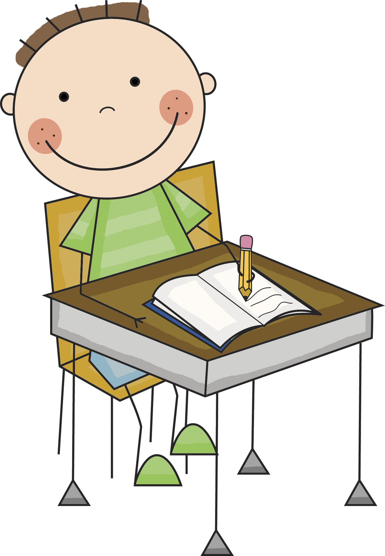 Desk clipart little Kids writing clipart Writing collection