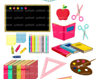 Homework clipart school stationery Clipart Free Supplies Clipart Panda