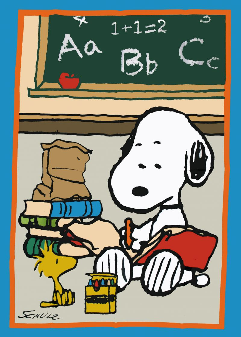 Snoopy clipart go to school On more Pin ̨͡ &
