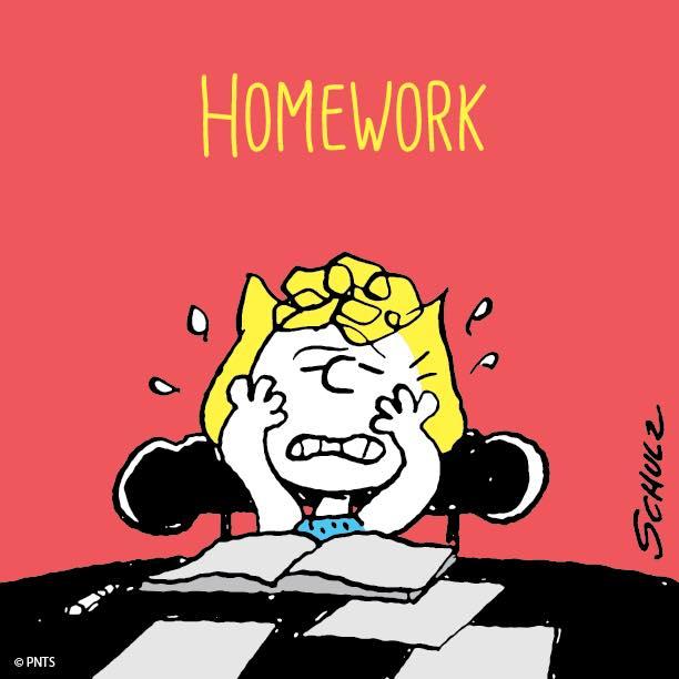 Homework clipart snoopy Clip  Class Art homework