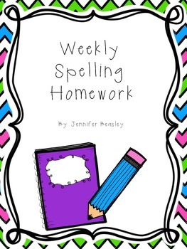 Homework clipart spelling homework Weekly Beasley by Jennifer Template