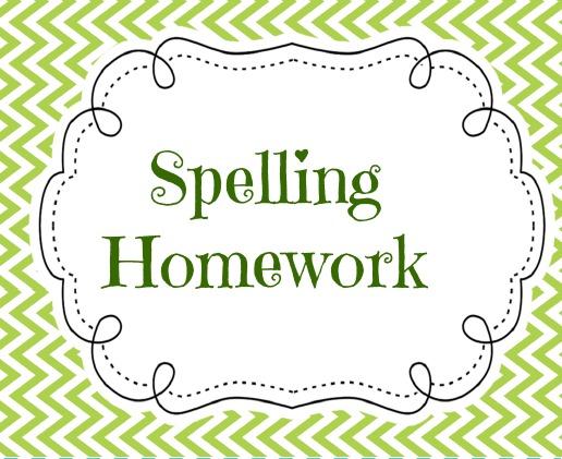 Homework clipart spelling homework Homework Zone Spelling Cliparts homework