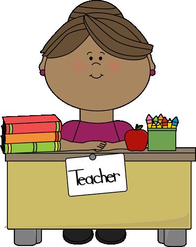 Homework clipart teacher Desk Clip Teacher at a