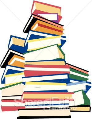 Homework clipart textbook Have books of stack white