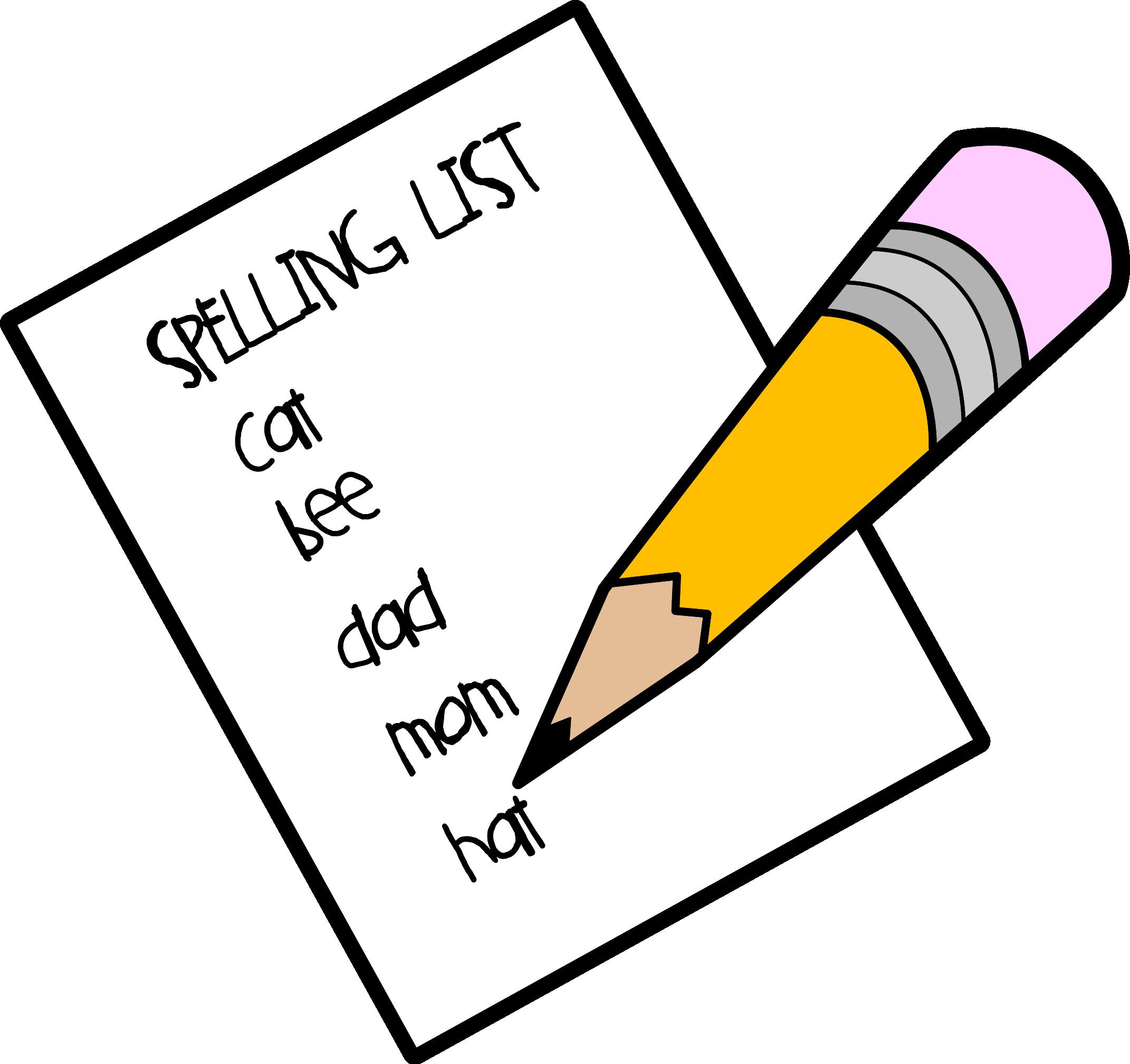 Notebook clipart spelling Spelling Pen spelling_list_c and tips