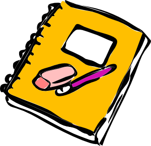 Notebook clipart writing journal With Art / Clipart Clip