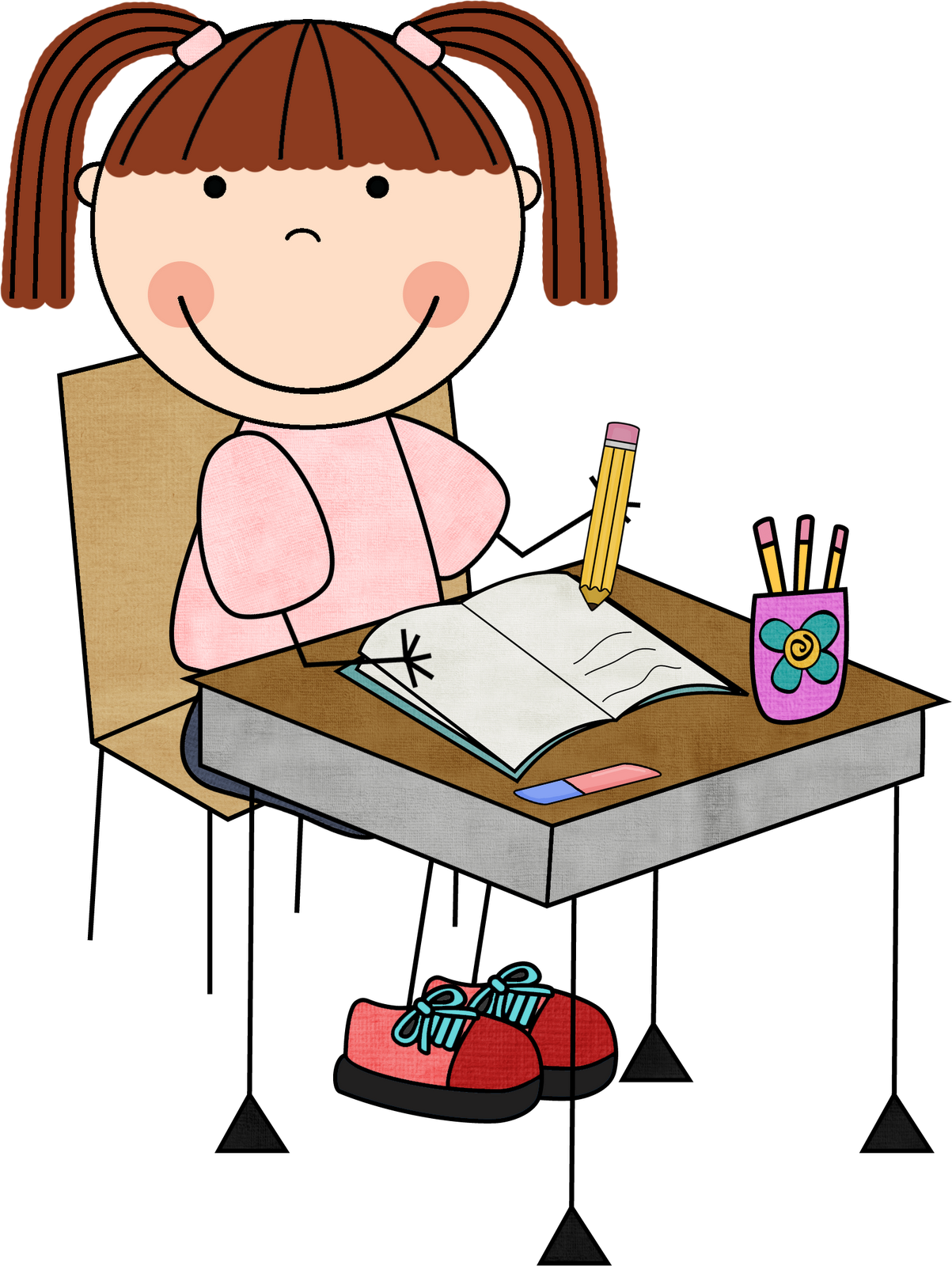 Homework clipart writing cent Collection collection Child writing free