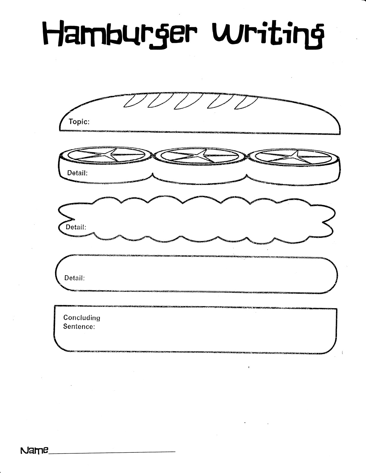 Homework clipart writing story Writing collection Hamburger download free