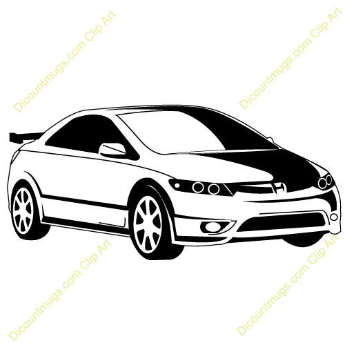 Honda clipart black and white Car cliparts Honda Honda Clipart