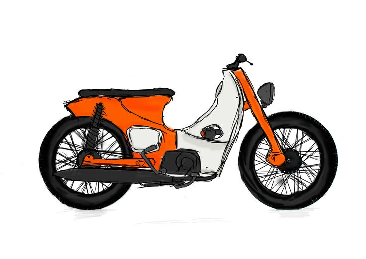 Honda clipart c70 Cub Best custom of C100