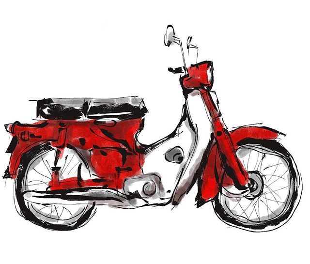 Honda clipart c70 #krita krita using Quick Artwork