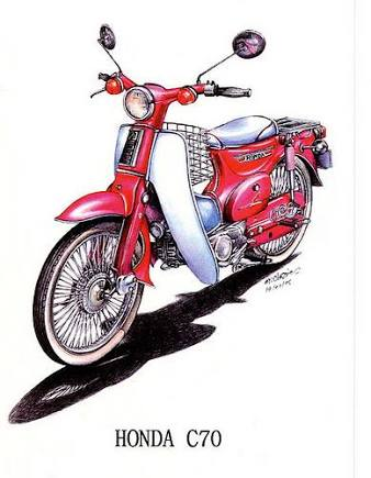 Honda clipart c70 Honda on Sanivee Areef Pin