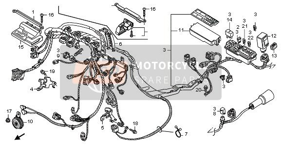 Honda clipart honda cbr600rr TO 2008 · HARNESS ·
