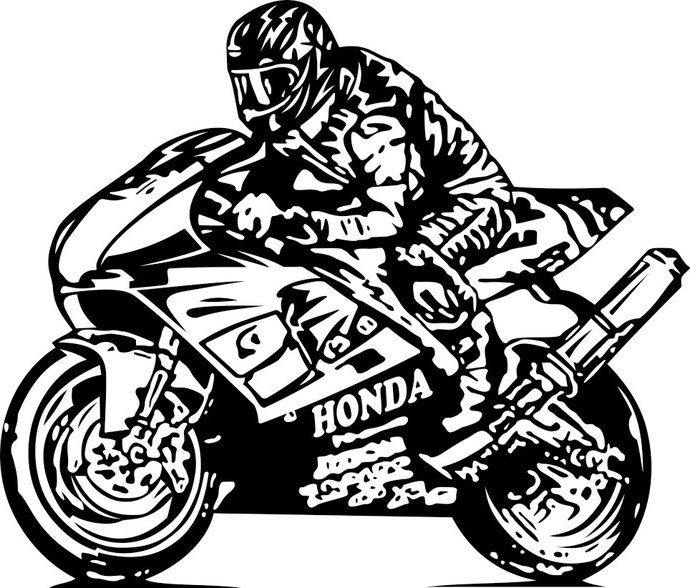 Honda clipart sport Pdf design Bike DXF Motor