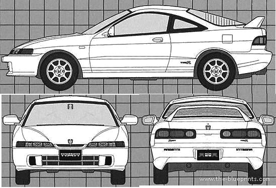 Honda clipart type r Blueprints (1995) > Cars Honda