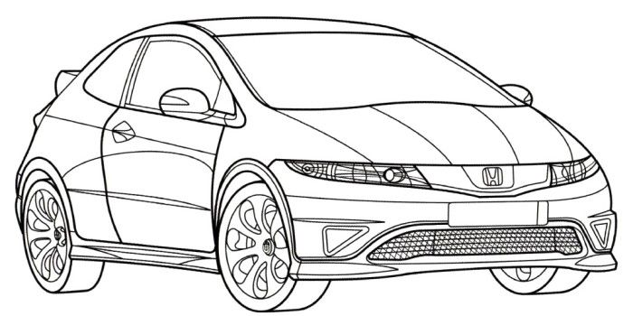 Honda clipart type r Stuff Teacher  Coloring Page