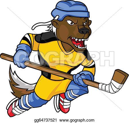 Honey Badger clipart mascot #2