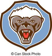 Honey Badger clipart mascot #4