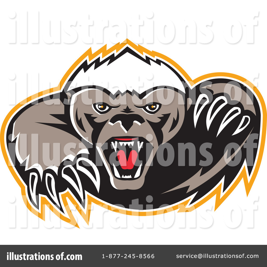 Badger clipart mean Honey #1214960 by (RF) Illustration