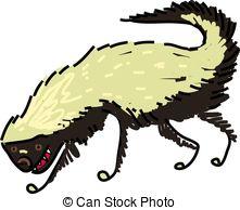 Honey Badger clipart tribal #14