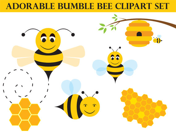 Bee Hive clipart bumblebee Honey Whimsical Bee Clipart Download