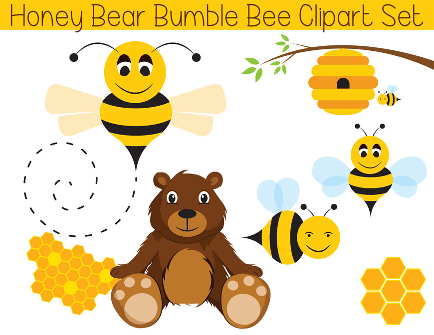 Honey clipart bumble bee  Bee Bear Bumble Clipart