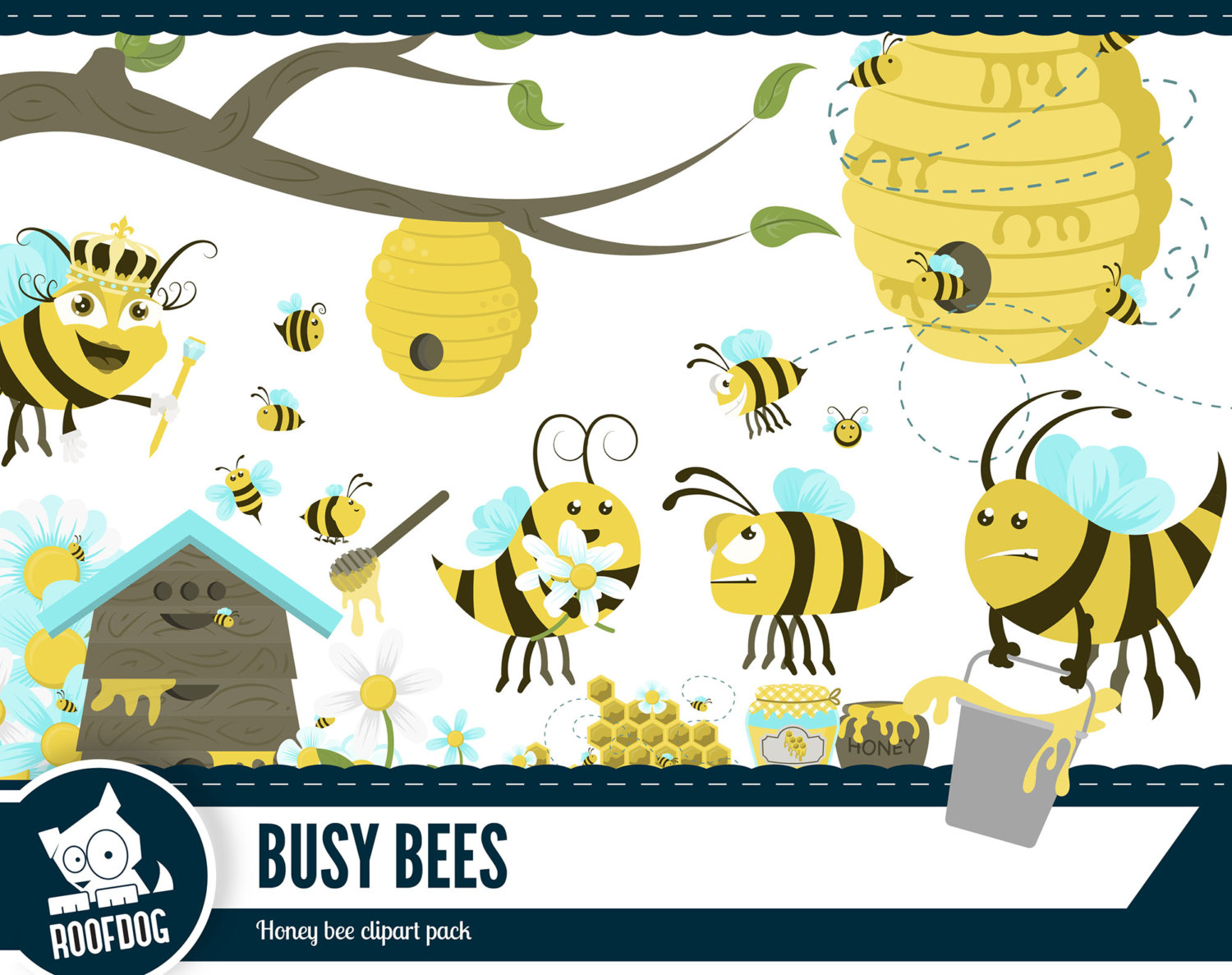 Bee Hive clipart printable Busy This clipart Honey is