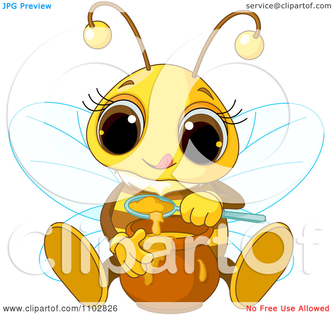 Honey clipart cute Bee Honey free clipart Collection