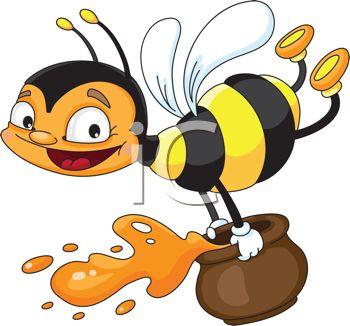 Honey clipart vector Flying holding a of honey