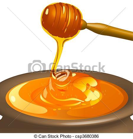 Honey clipart vector Csp3680386 csp3680386  Vector of