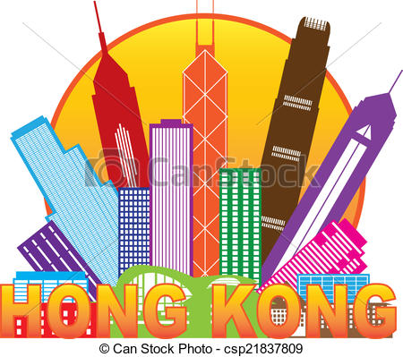 Hong Kong clipart  Hong Circle Panorama Kong