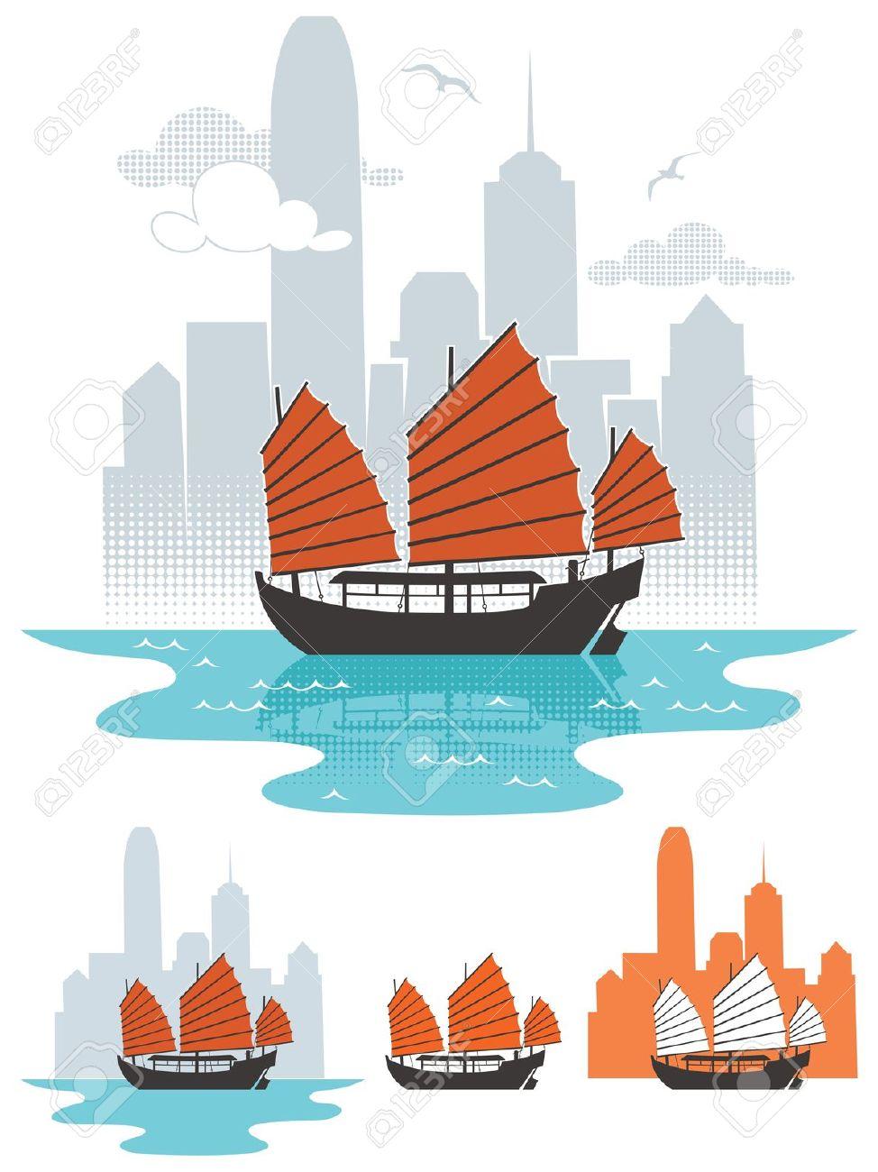 Hongkong clipart Hong Kong Flag Clip Hong Travel Art Travel
