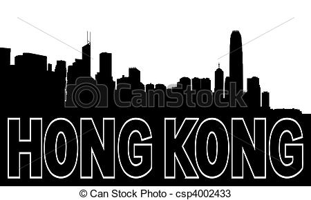 Hong Kong clipart  skyline on csp4002433 black