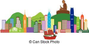 Hongkong clipart Hong Kong Flag Skyline Statue Buddha Hong