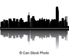 Hong Kong clipart  Illustrations skyline EPS 2