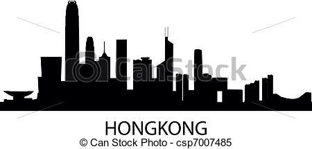 Cityscape clipart hong kong skyline Of Vector csp7007485 Skyline Clipart