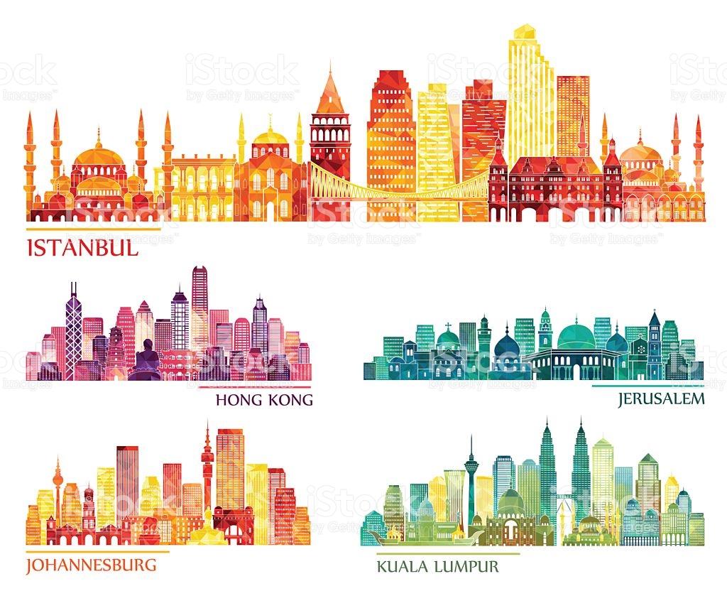 Cityscape clipart hong kong skyline Kuala Kong Johannesburg Kong Lumpur