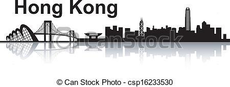 Hongkong clipart Hong skyline Kong white skyline