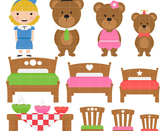 Cottage clipart hous Art Goldilocks Clip art goldilocks
