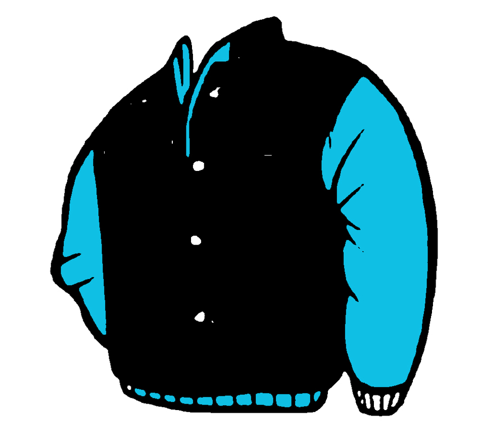 Hood clipart blue jacket Art  Clipart Jacket of