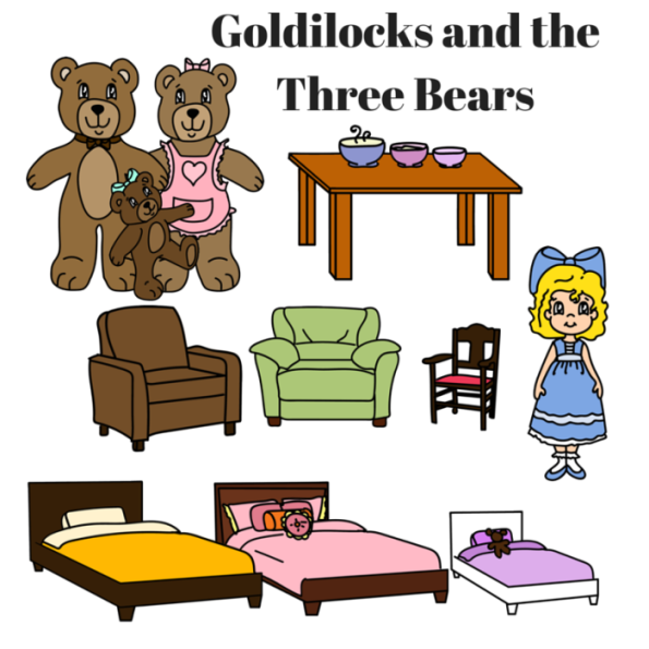 Red Riding Hood clipart goldilocks and the three bears Three Riding Printable Goldilocks bears