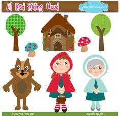 Red Riding Hood clipart grandma #2