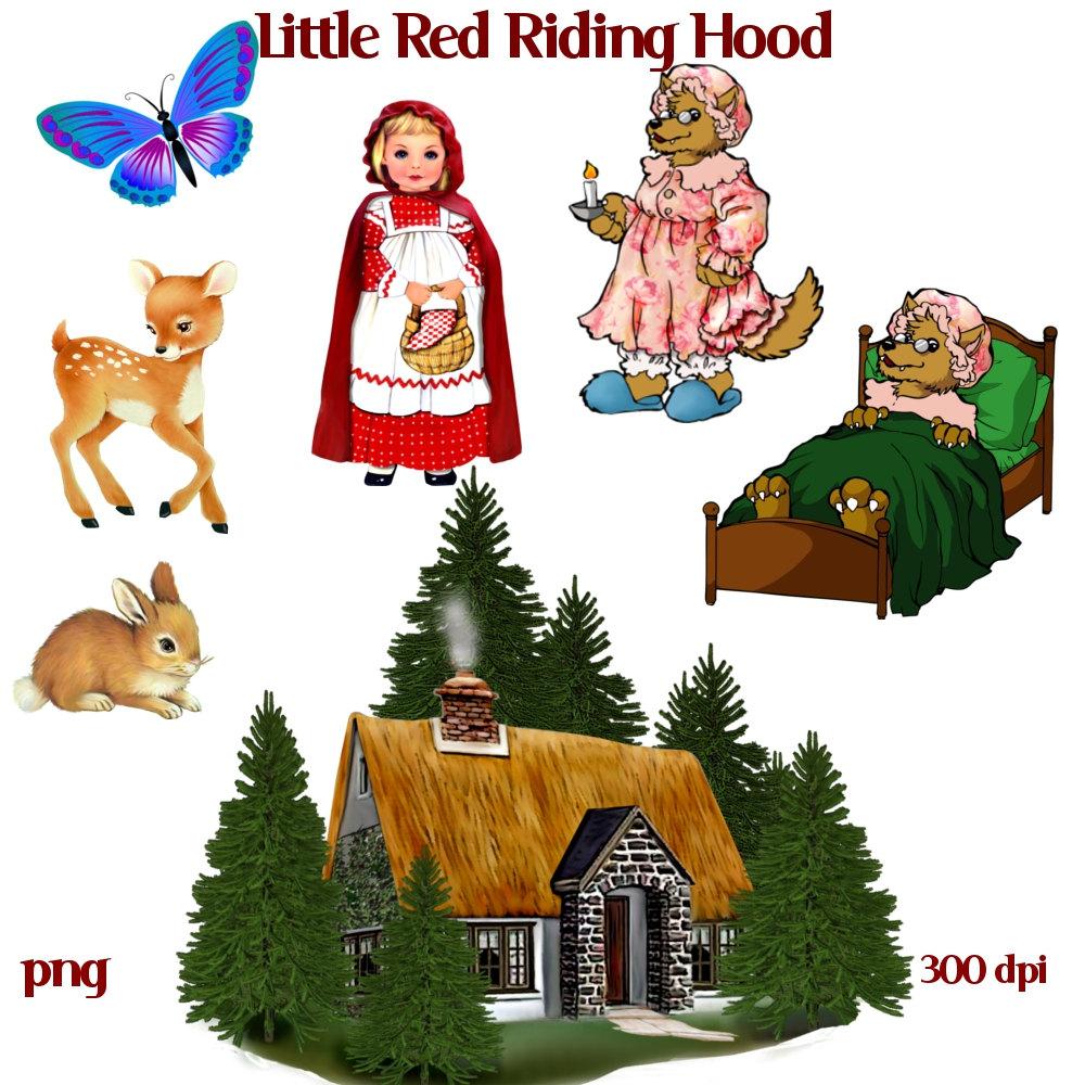 Hood clipart little red riding hood wolf Hood Riding Red 144 Hood